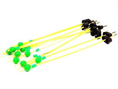 """great for low light fishing 1.25/"""" Round REFLECTIVE Bobber Float 10-Pack"""
