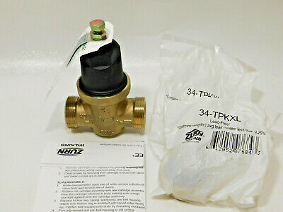 Zurn 34 Nr3xldu Water Pressure Reducing Valve Lead Free With 2 Ea 34-tpkxl