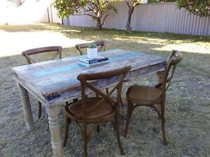 Reclaimed Wood Table and Toulon Dining Chairs