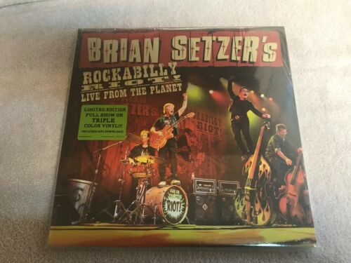 Brain Setzer Live from the planet  rare 3 lp set new and sealed