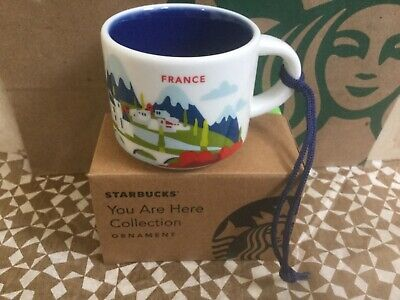 Starbucks City Mug Ornament, FRANCE, «YOU ARE HERE» Collection, SKU Code, 2 oz.