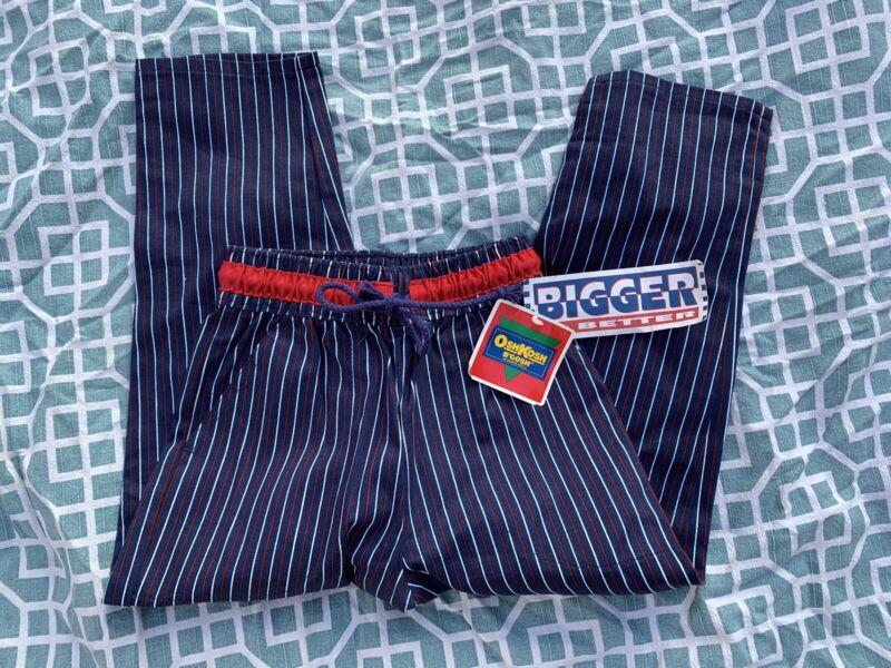 Osh Kosh Kids Size 5 Vintage Navy Red Striped Pants Boys / Girls Original Tags