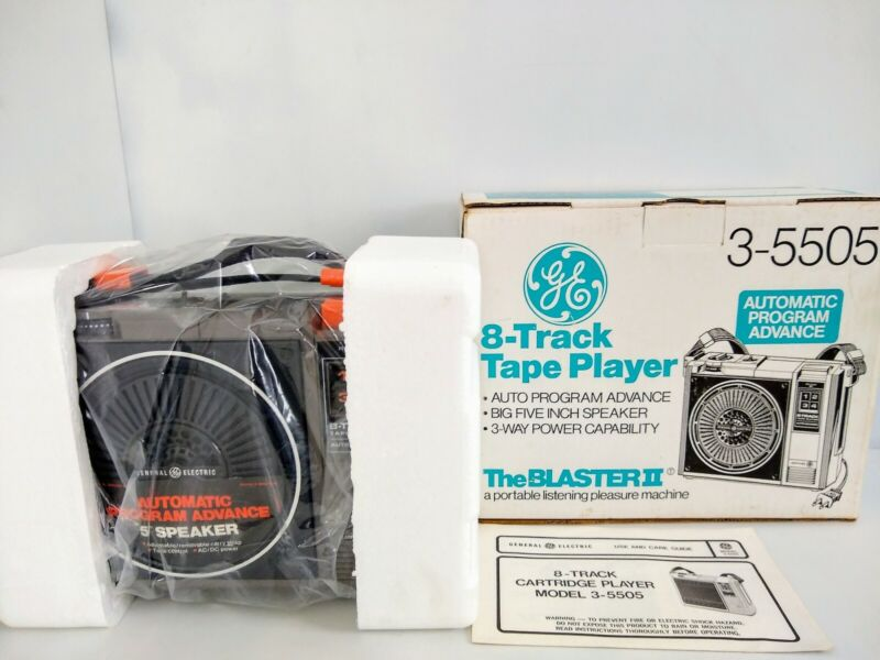 NOS NEW-IN-BOX GE General Electric 3-5505F Blaster II Portable 8 Track Boombox!