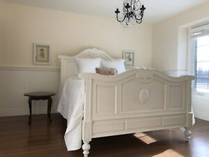 Gorgeous Antique French Country Carved Queen Bed