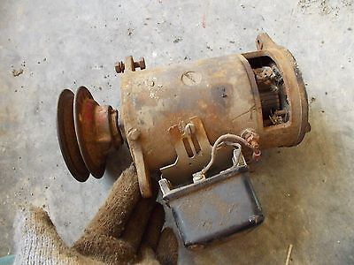 Farmall Ih A B C Bn Av Tractor Original 6v Generator Good Belt Drive Fr Pulley