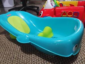 Whale tub for babies