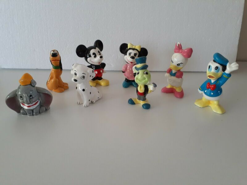 SALE* Lot 8 Walt Disney Production Japan Mickey Mouse Friends Ceramic Figurines