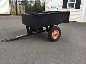 """Utility Cart (2'6"""" x 3'4"""") w/Dumping Lever + Removable Tailgate"""