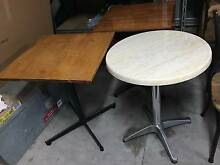 Cafe/Restaurant Round & Square dining tables 5 - almost new Dingley Village Kingston Area Preview