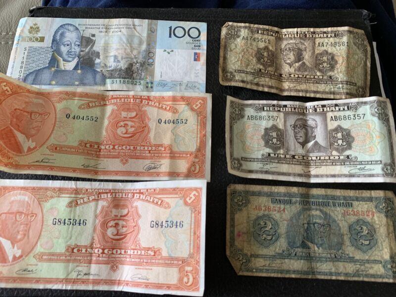 Misc Haiti Banknotes Circulated