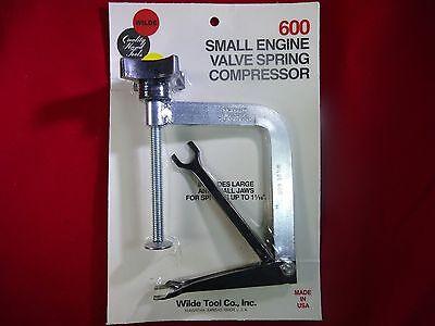 USA MADE ! Wilde Tool Co #600 Professional Small Engine Valve Spring Compressor
