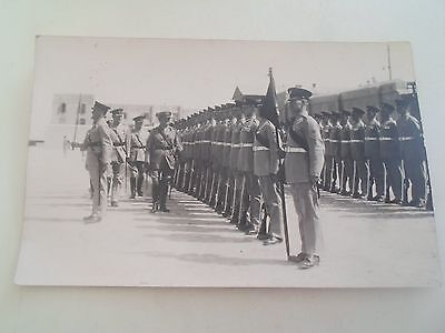 Vintage Real Photo Postcard SOLDIERS ON PARADE   §R21