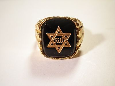 1 Goldplated Star of David Size 10 Ring