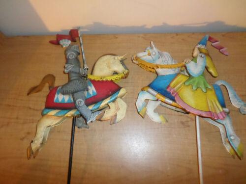 Vintage Metal Knight and Princess Balance Toy Sky Hook Lot - Nice - See Photos