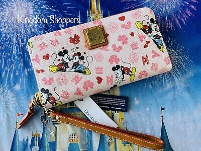 Disney Mickey Minnie Mouse Valentines Day Love Dooney & Bourke Wristlet Wallet C