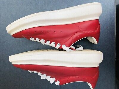 Alexander McQueen Mens Oversized Sneakers Trainers Shoes Size 10 Red White