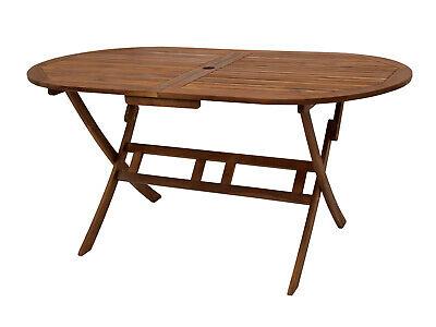 Gartentisch Holztisch Klapptisch Gartenmöbel Tisch BENITA 160x85cm oval Akazie