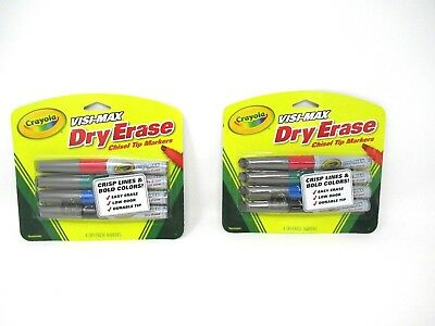 Crayola Dry Erase Markers Visimax Chisel Tip 2 Packs 4 Each  8 - Crayola Dry Erase Markers