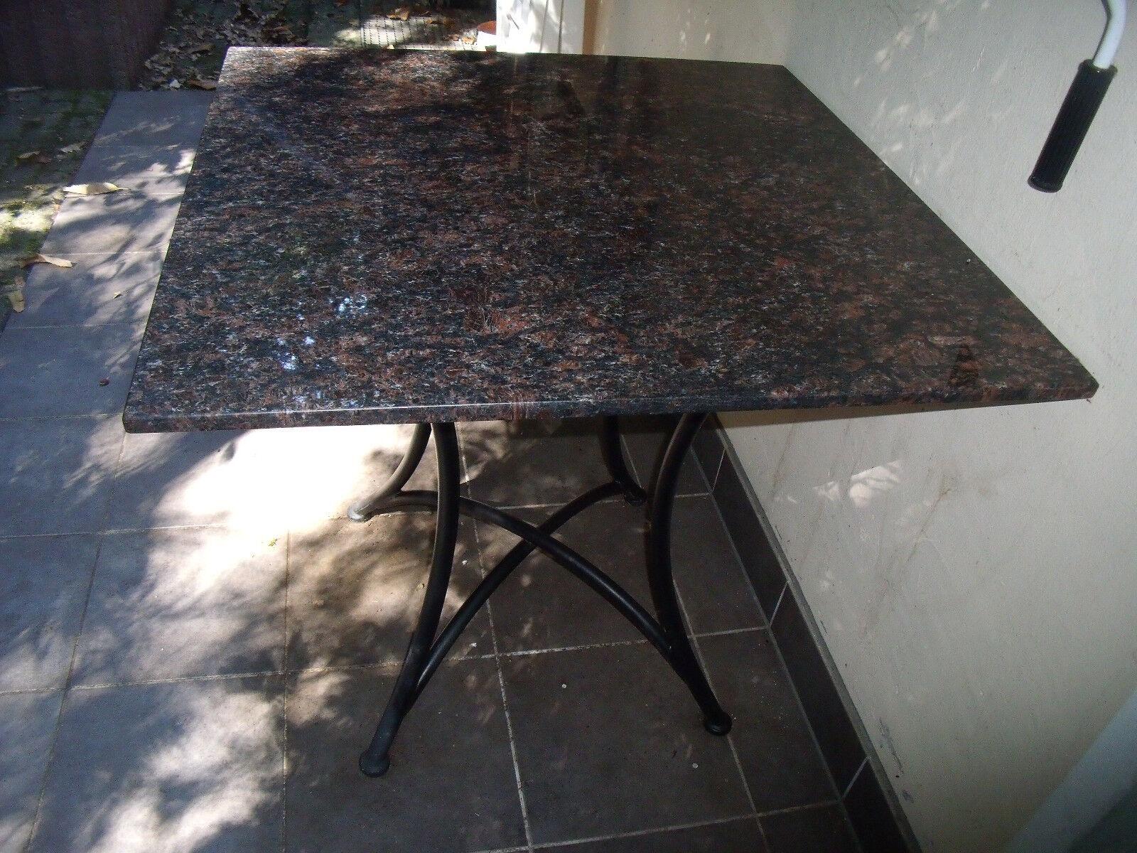 Granittisch Tischplatte Granit Naturstein Gartentisch