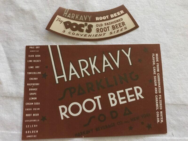 HARKAVY Root Beer Vintage Labels, Harkavy Beverage Co., New York, N. Y.