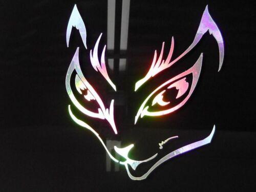 Custom Holographic You Choose Color Cat Eyes Vinyl Car Window Decal Laptop