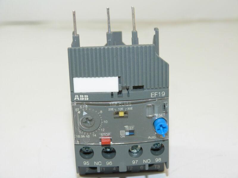ABB EF19-18.9 Electronic Overload Relay 5.7-18.9A NEW 1yr Warranty