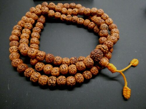 Rudraksha Japa Mala 10mm Rosary Yoga Hindu Meditation 108+1 Prayer Bead Mala