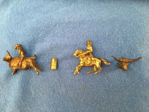 Vintage RODEO HAT PINS Collection Bull Rider Barrel Racing Longhorn Steer Texas