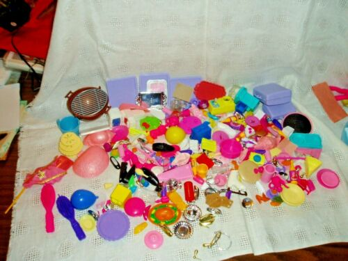 TREASURE CHEST OF Barbie, Smaller and Larger DOLLS, MISC. ACCESSORIES