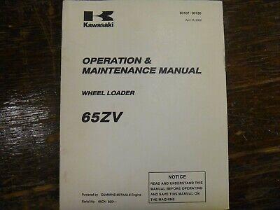 Kawasaki 65zv Wheel Loader Owner Operator Maintenance Manual