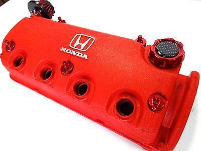 VMS RED BILLET D15 SOHC VALVE COVER WASHER SEALS NUT BOLT OIL CAP DRESS UP KIT