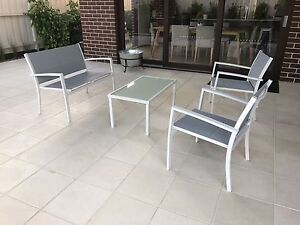 White 4 piece lounge set Outdoor Furniture Setting couch 2 arm chairs Narre Warren South Casey Area Preview