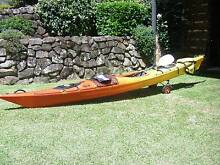 2008 DAG Tiwok Sit-in Kayak with Rudder Soldiers Point Port Stephens Area Preview