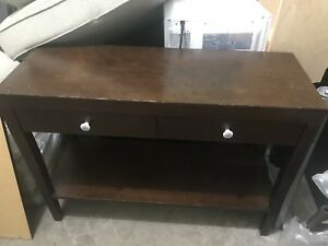 Brown console