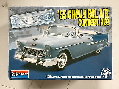 REVELL 1/25 1955 CHEVY BEL AIR CONVERTIBLE W/ SOFT TOP OPTION MODEL 85-4269 FS