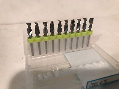 10 Pack Micro Mini Carbide Drill Bits 316 4.75mm Dremel 18 Shank