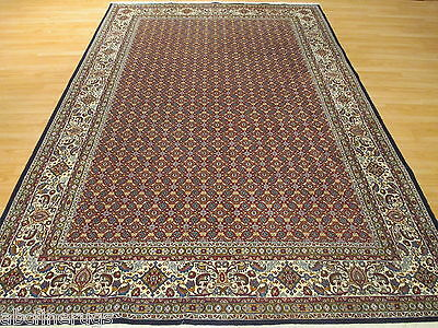 7x10 Persian Intricate MAHI Allover-Pattern Hand-Knotted Wool Rug/Silk 582005
