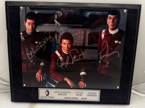 Star Trek Shatner Nimoy Kelley McCoy Spock Kirk Autographed Photo 81/995 COA - $349.99