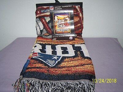 (New England Patriots NFL Woven Tapestry Throw (Home Field Advantage) (48
