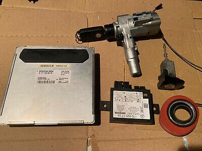 MERCEDES SLK230 R170 ENGINE ECU IGNITION BARREL DOOR LOCK KEY SET A1111530879
