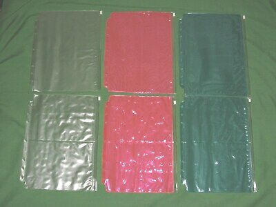 Folio Clear Red Green 6 Zipper Pouch Lot 8.5x11 Day Timer Monarch Franklin Covey