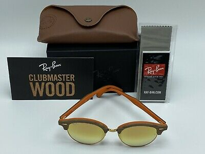 NEW Ray-Ban Club Master Wood RB4246-M Bronze Sunglasses 51mm