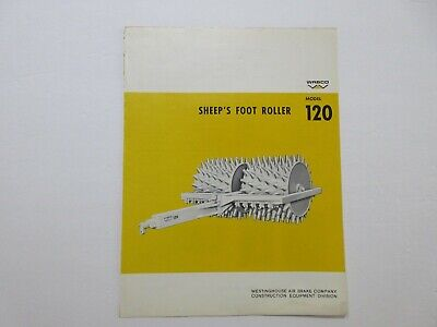 Rare Wabco Sheeps Foot Roller Sales Sheet 1966