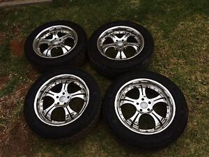 Subaru Mags with New Tyers. 17 Inch 225/55ZR1 $700 Griffith Griffith Griffith Area Preview
