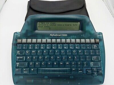 Alphasmart 3000 Portable Laptop Keyboard Word Processor. Tested