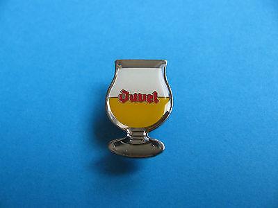 DUVEL Belgium Beer Glass pin badge, Lager, Pilsner. VGC. Unused.
