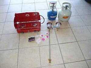 2 burner stove 3 lamp tops 1 ext 6 wicks 2 gas bottles Eight Mile Plains Brisbane South West Preview