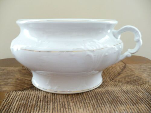 Antique Princess Ceramic Chamber Pot Potty with Gold Trim