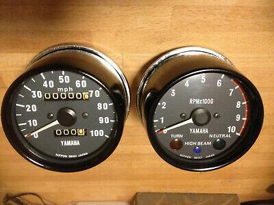 <em>YAMAHA</em> XT 500 TT500 CLOCK SET SPEEDO SPEEDOMETER REV TACHOMETER