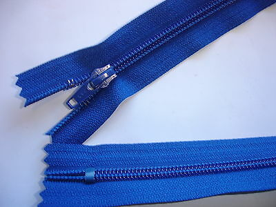 1 Stück Reißverschluß YKK blau 60cm lang, nicht teilbar X115